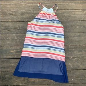 Charming Charlie nautical inspired striped dress